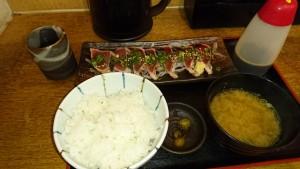 鰹のタタキ定食(740円)