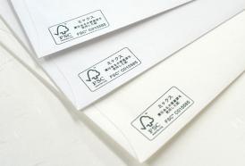 FSC認証紙を使用した長3封筒