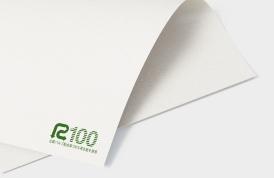 R100マークが印字された再生紙