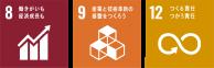 トラッキングDMで達成できるSDGs目標: 8.働きがいも経済成長も 9.産業と技術革新の基盤をつくろう 12.つくる責任、つかう責任